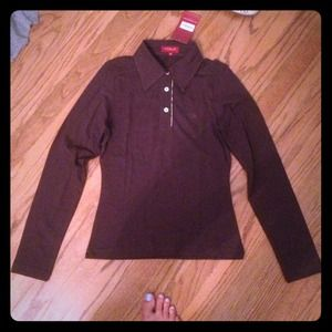 Brown/dark purple authentic Burberry shirt