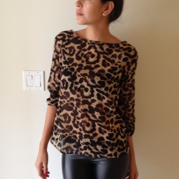 Animal Print Low Back Bow Blouse S From As Closet On Poshmark