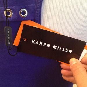 Karen Millen  Tops - British Designer Karen Millen Violet Racerback