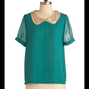 NWOT vintage top green
