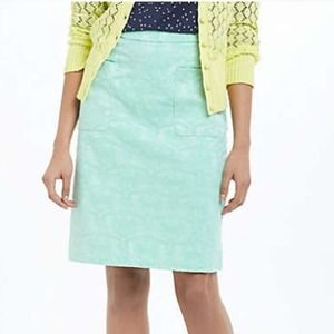 Flash sale!! Anthropologie Mint Brocade Skirt