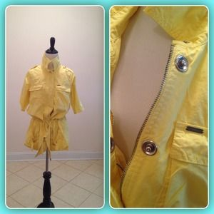 Jackets & Blazers - NWOT on SALE!!! Yellow Zipper + Snap Jacket