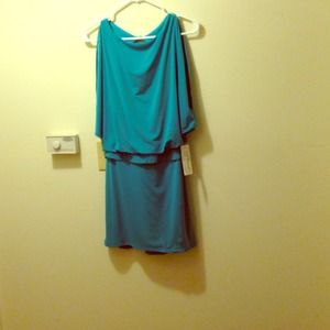 Open shoulder open back dress!