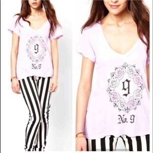 NEW Wildfox Pink Gothic No. 9 Tee
