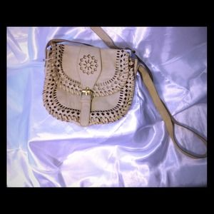 ✨Tan Leather Cross Body Purse✨