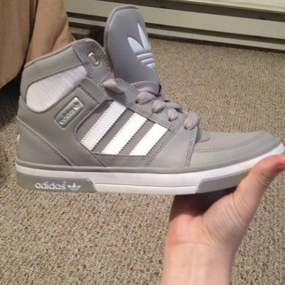 0865a7a27 TRADED🚫 Grey   White Adidas High Tops
