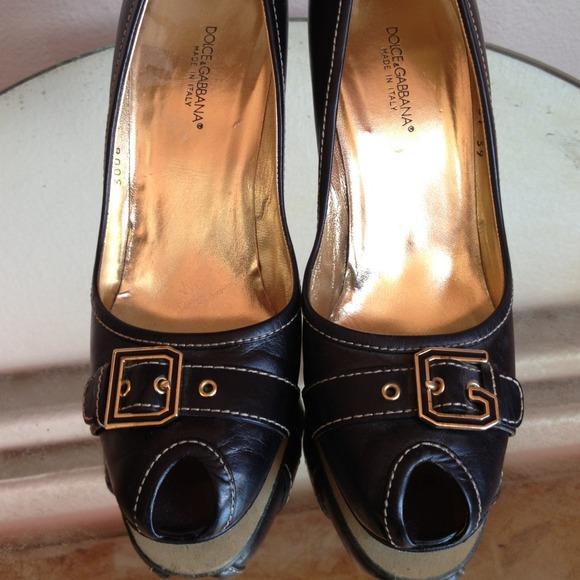 Dolce Gabbana Vero Cuoio 39 Dg Buckle