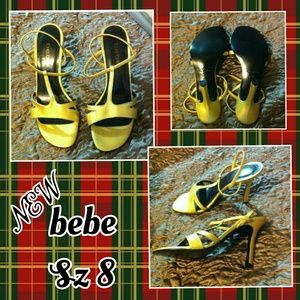 NEW-bebe Gold Sandals