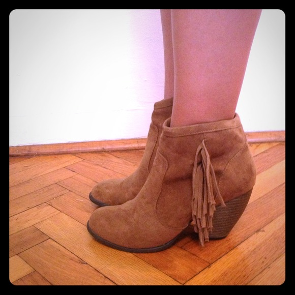 Fringe Target Brown short boot heels. 7 from Lizzie's closet on ...