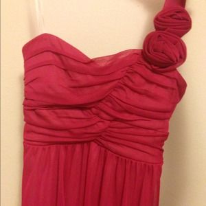 Pink/fuchsia one shoulder social/homecoming dress
