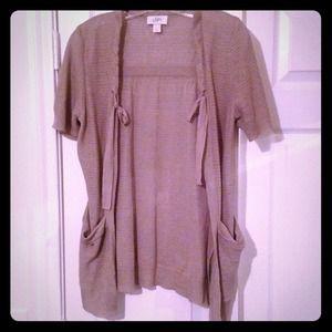 LOFT Jackets & Blazers - SOLD IN BUNDLE LOFT Silver-Grey Cardigan