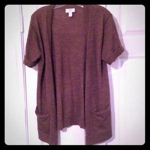 LOFT Sweaters - SOLD IN BUNDLE Heather Brown Long Cardi
