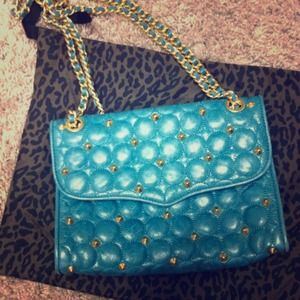"Rebecca Minkoff ""Affair"" circle  stud Quilt Bag"