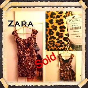 SOLD!!!HOST PICK Zara Leopard printed dress