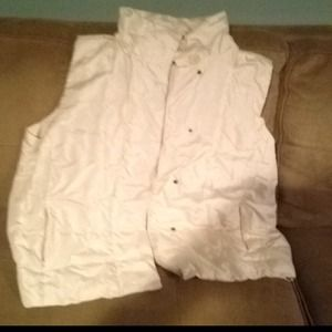 Outerwear - Donated Winter white vest with belt