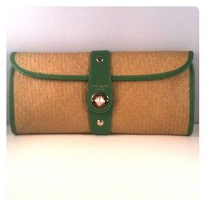 Kate Spade-Wicker Clutch