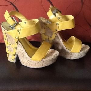 Shoes - 🚫SOLD🚫Yellow Wedges