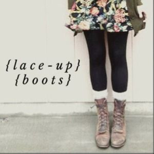 REDUCED!! Urban Outfitters Rodeo Lace-Up Boots