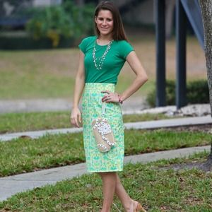 Shabby Apple Dresses & Skirts - Neon print pencil skirt