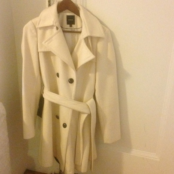 75% off Express Jackets & Blazers - Off-white coat Express from ...