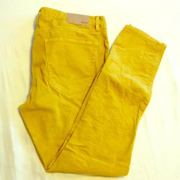 yellow corduroy pants women - Pi Pants