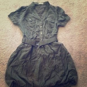 Army green Bubble dress. Never worn.
