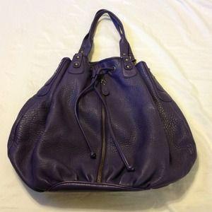 Nordstrom Handbags - ⚡SALE⚡️NORDSTROM - dark purple leather bag