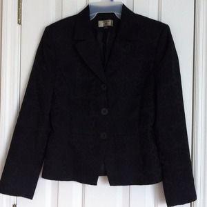 """Stresa Jackets & Blazers - """"Stresa"""" Black Jacket / Blazer with Design Fabric"""