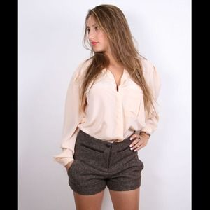 High Waisted Tweed Shorts