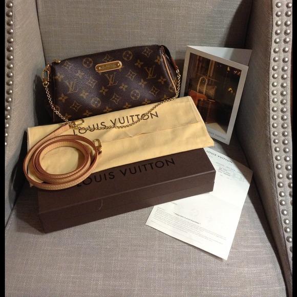 yves saint laurent leather bracelet - Louis Vuitton - HOLD Authentic monogram Louis Vuitton Eva clutch ...