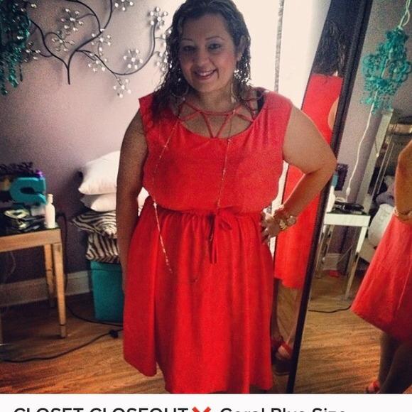 Forever 21 Dresses Closet Closeout Coral Plus Size Dress Poshmark