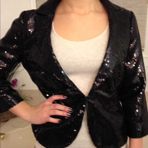 Black Sequin Jacket Forever 21 Sequin Blazer 2 Forever 21