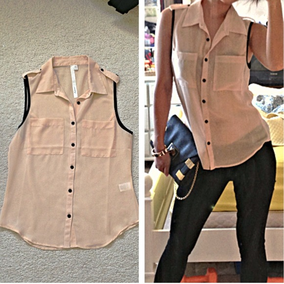 Reformed Tops - Champagne-Pink Top