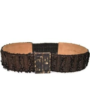 Fendi black limited edition wide belt