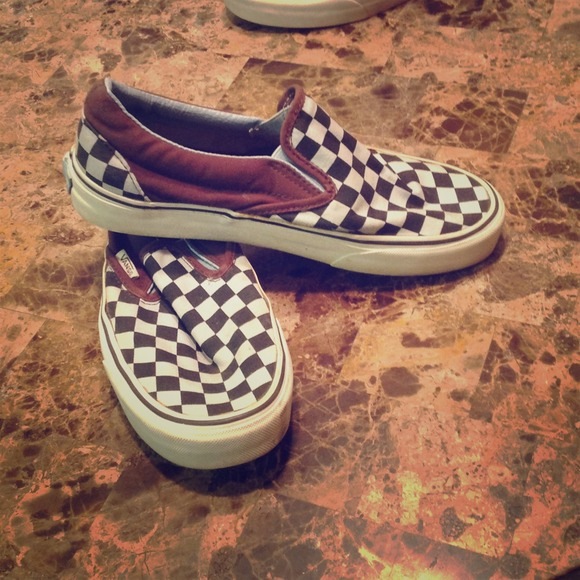 62 off vans shoes vans light blue and brown checkered
