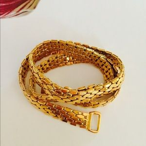 Napier Goldtone Flexible Necklace VTG