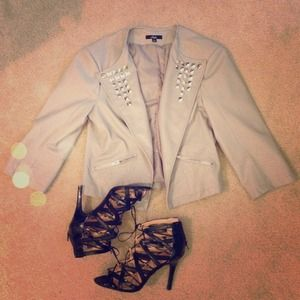 Jackets & Blazers - Studded Moto Jacket