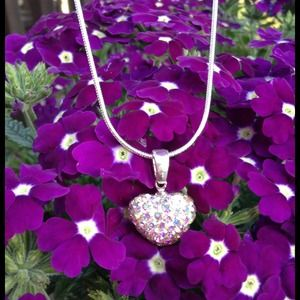 Jewelry - 🎉HOST PICK🎉925 SS Multicolored Heart Necklace