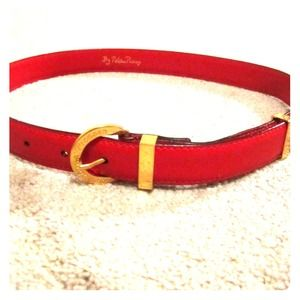 Paloma Picasso Vintage Red Belt
