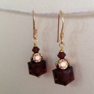 """Grace Too"" Swarovski and gold fill earrings"