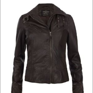 NWT All Saints leather biker jacket