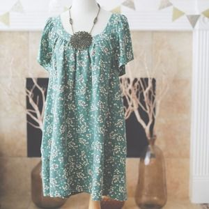 Silk, floral shift dress