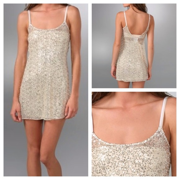 63% off Free People Dresses &amp- Skirts - Free People gold sequin ...