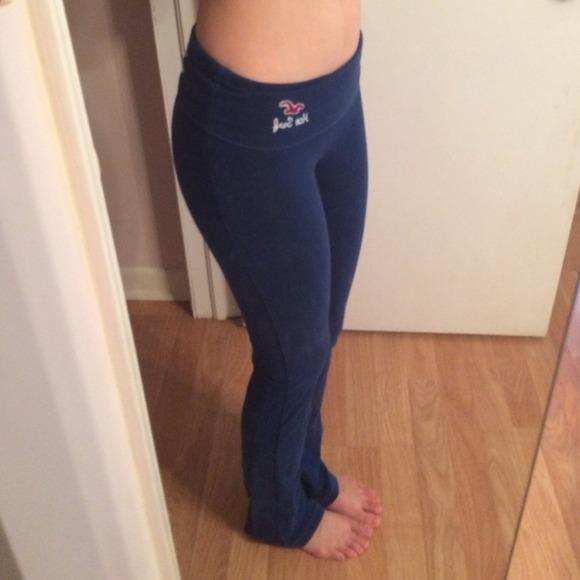 57% off Hollister Pants - Keeping ️ Hollister Blue Fold ...