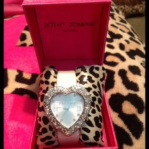 Betsey Johnson heart shaped watch