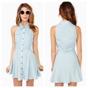 nastygal Dresses & Skirts - Nasty gal summer feeling denim dress