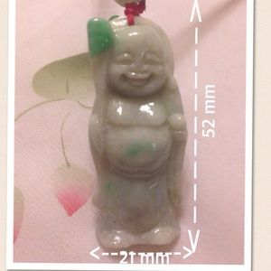 Jewelry - 🌹This smile Buddha necklace is real jade🌹