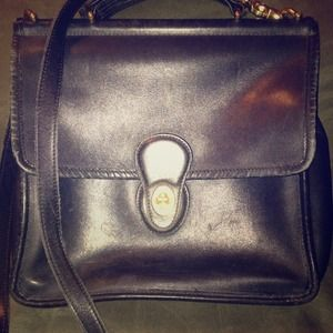 REDUCED PRICECoach Black Leather Willis Bag!!!