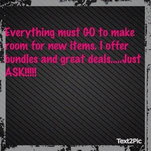 Big BLOWOUT sale!!!!!