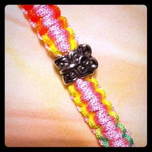 Bracelet  with Tibet .925 Silver Charm